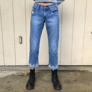 Lucky Brand Jeans   Sweet Crop   Embroidered